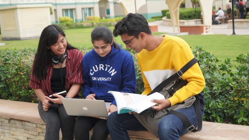 Students at Curtin Dubai